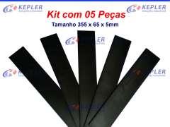 Kit Palheta Grafite 05 pçs / Bomba Vácuo Becker VTLF 2250 - 90136701005 / 355x65x5