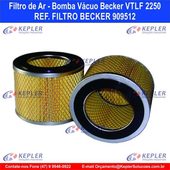 Filtro de Ar - Bomba Vácuo Becker / 909512