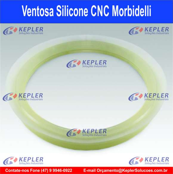 """Ventosa de Silicone 9"""" - CNC Morbidelli"""